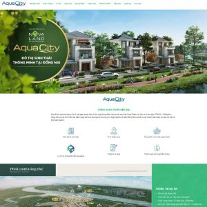 Web Landing Page Dự án Bất động Sản WDT 101