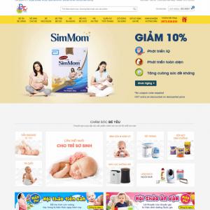 Web Bán Hàng Mẹ Và Bé WDT 117
