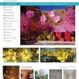 Web Bán Hàng Cây Cảnh Trang Trí WDT 140