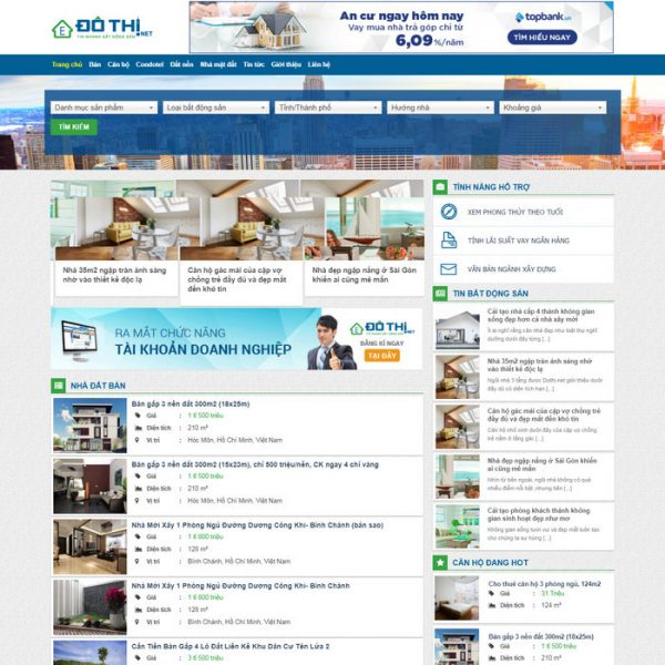 Theme Wordpress Mua Ban Nha Dat M91xx