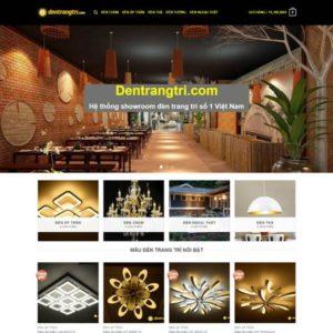 Web Bán Hàng đèn Trang Trí WDT 100