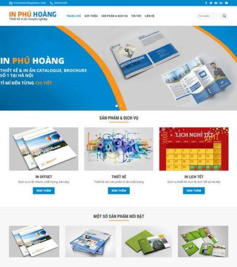 Web Dịch Vụ In ấn WDT 124