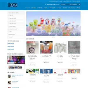 Web Bán Hàng Ly Nhựa WDT 126