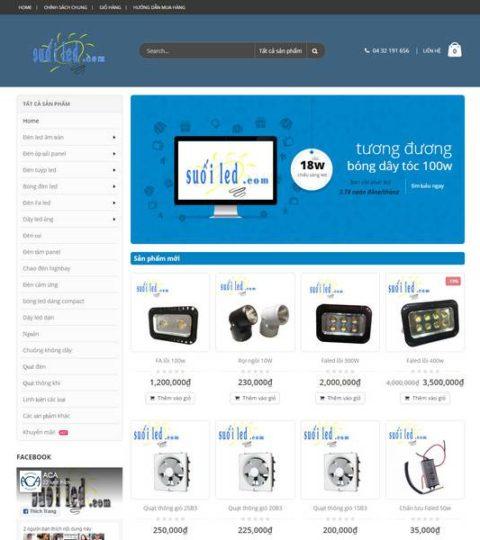 Web Bán đèn Thiết Bị điện WDT 128