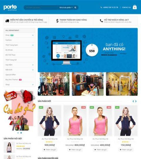 Web Bán Hàng Thời Trang WDT 132