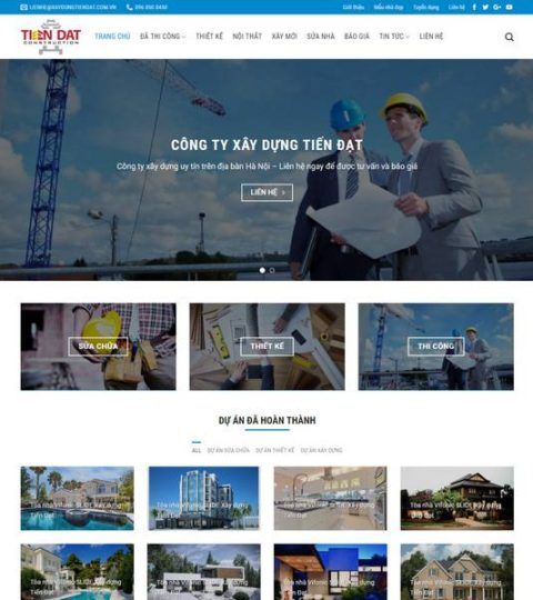 Web Công Ty Xây Dựng WDT 138