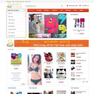 Web Bán Hàng Thời Trang WDT 105