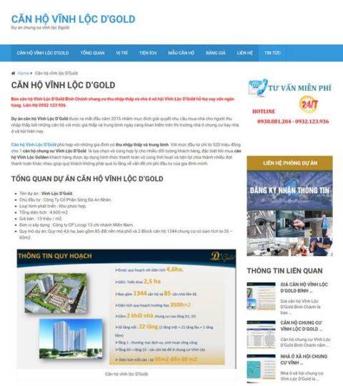 Web Tin Tức Bất động Sản đơn Giản WDT 106