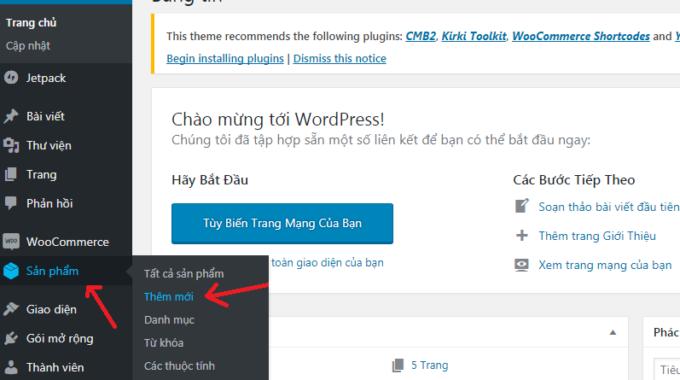 Cách Thêm Sản Phẩm Woocommerce-học Làm Website Wordpress