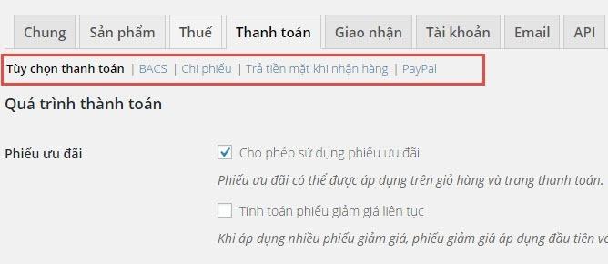 Cài đặt Thanh Toán Trong Woocommerce – Học Làm Website Wordpress